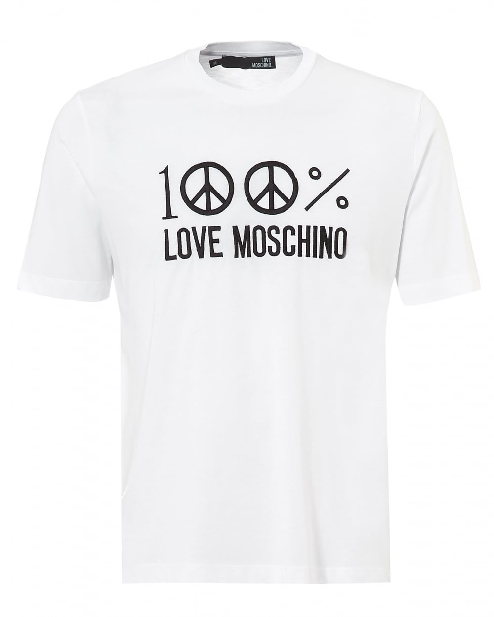 love moschino mens 100 love moschino t shirt regular fit. Black Bedroom Furniture Sets. Home Design Ideas