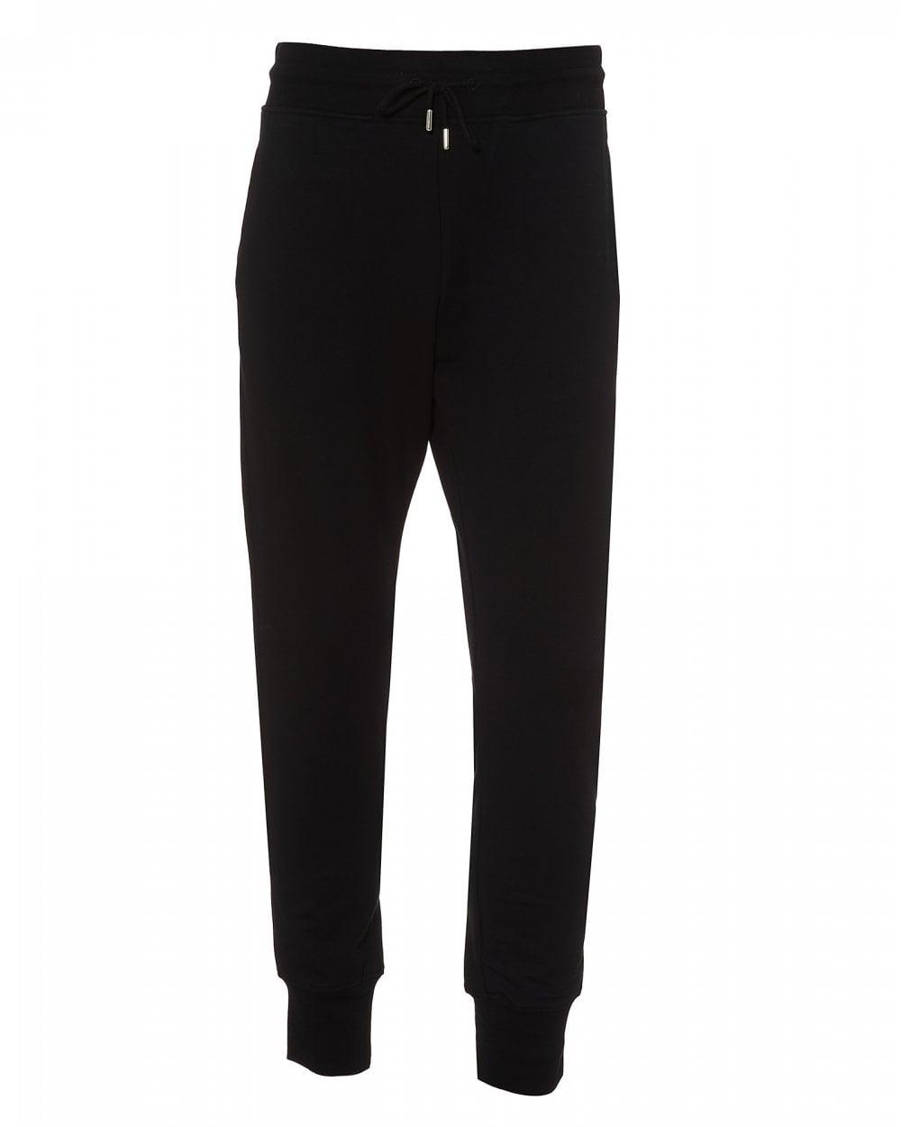 470fbe114d Love Moschino Mens Cuffed Track Pants, Black Slim Fit Sweat Pants