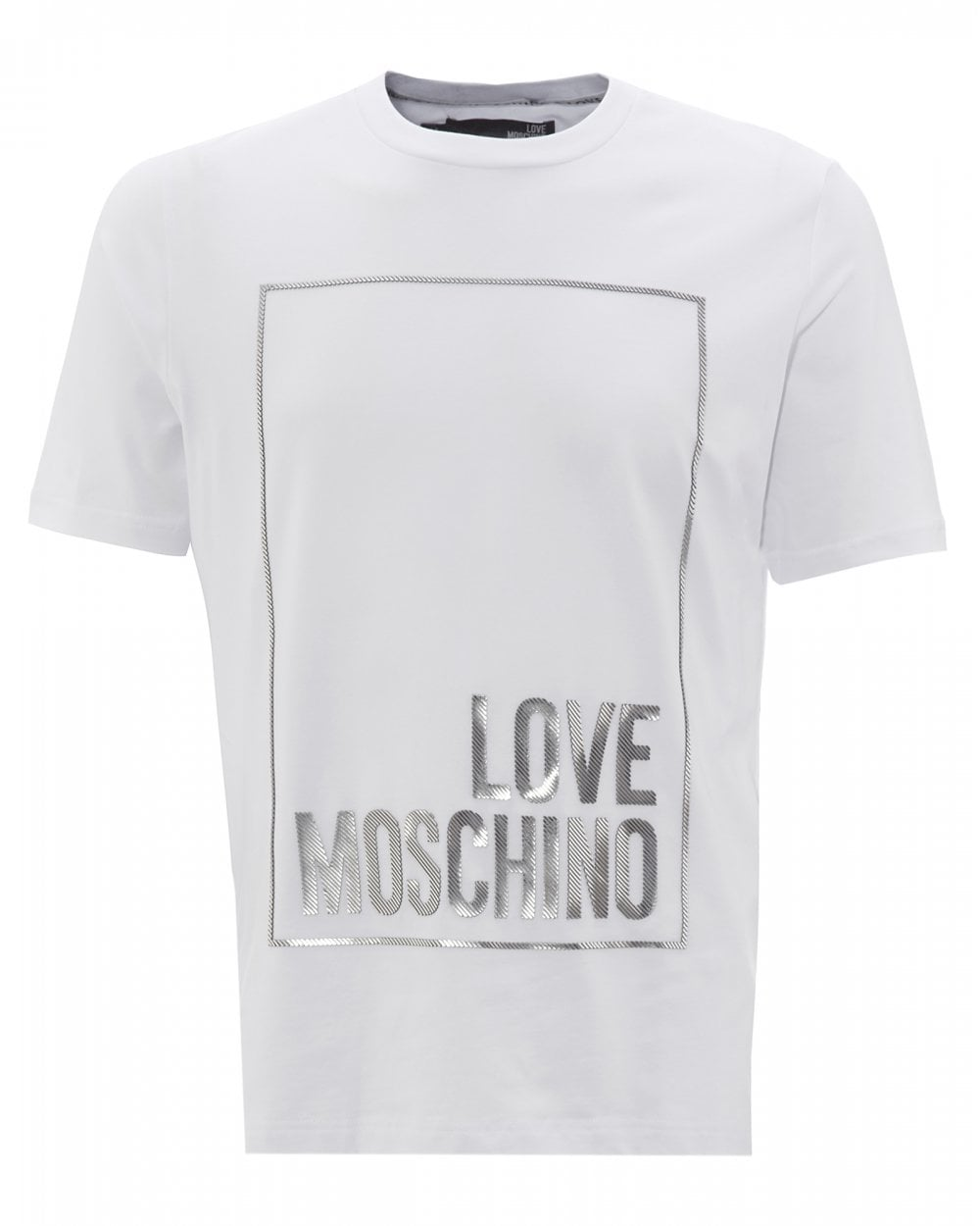 fast delivery another chance wholesale sales Mens Foiled Logo T-Shirt, White Tee