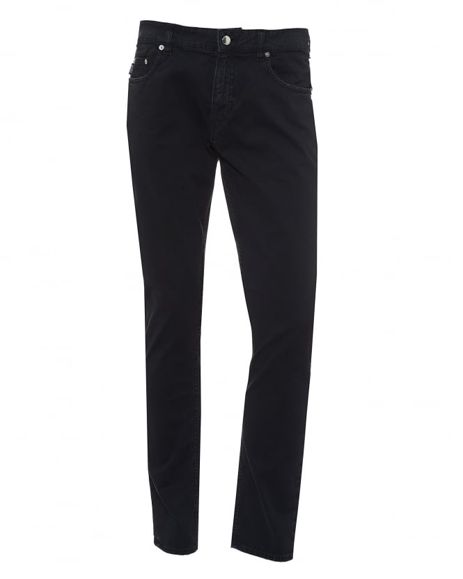 Love Moschino Mens Jeans, Black Brushed Cotton Denim
