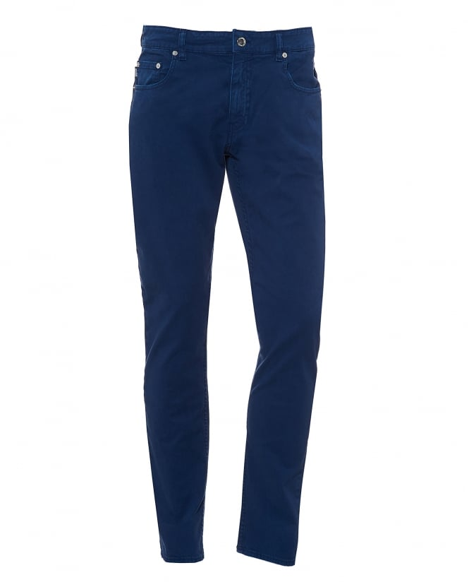 Love Moschino Mens Jeans, Navy Blue Brushed Cotton Denim