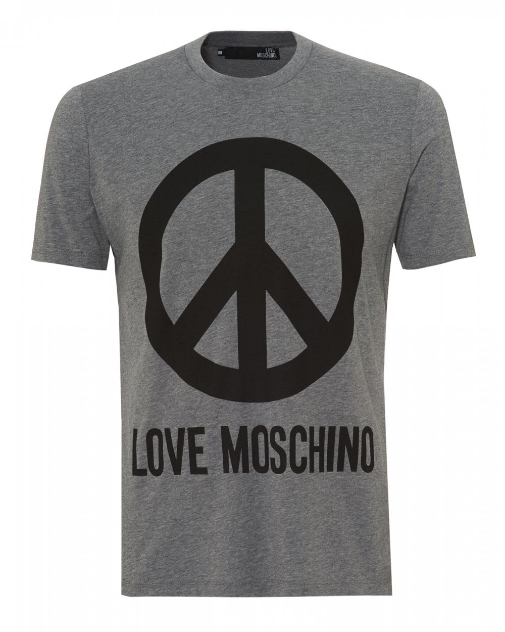 cb113330f6e Love Moschino Mens Large Peace Sign T-Shirt