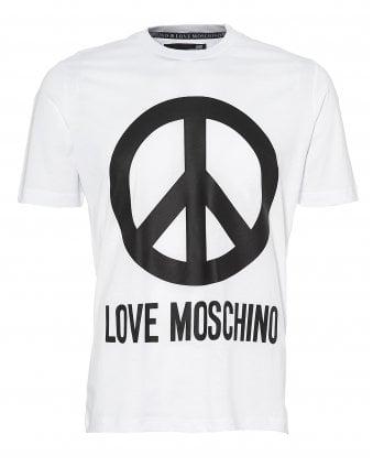 4ea45f35ebd23 Mens Large Peace Sign T-Shirt