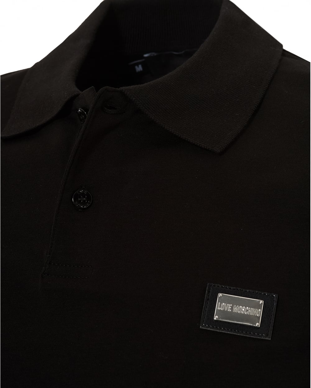 a5864c97f694e Love Moschino Mens Plain Badge Polo Shirt