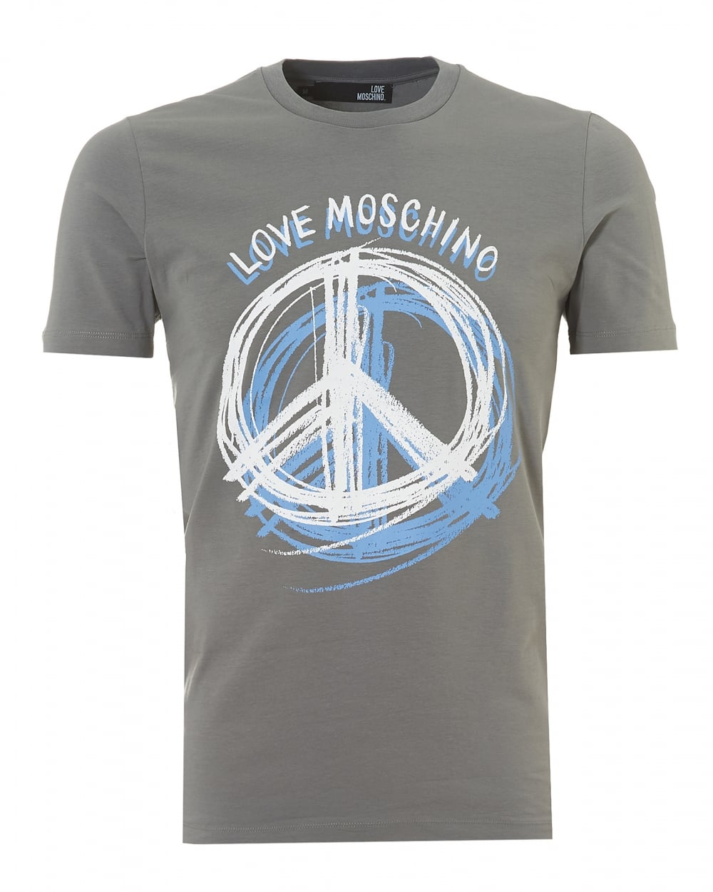 love moschino mens scribble t shirt slim fit grey tee. Black Bedroom Furniture Sets. Home Design Ideas