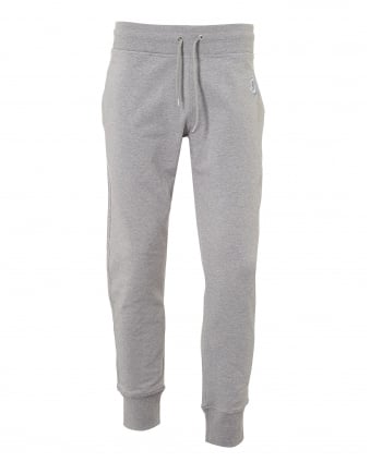 Mens Scribble Trackpants, Cuffed Grey Sweatpants