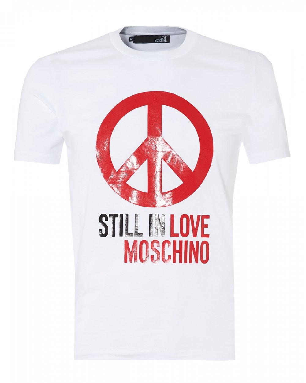 07e1727df2a Love Moschino Mens Still In Love Peace T-Shirt