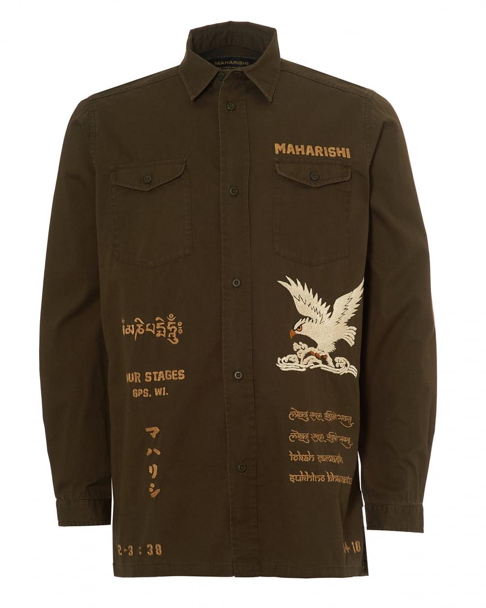 Maharishi mens eagle tour embroidered jacket mill olive overshirt mens eagle tour embroidered jacket mill olive overshirt gumiabroncs Gallery