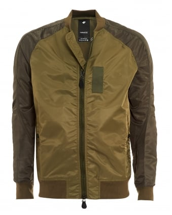 Mens Ergonomic MA Olive Green Bomber Jacket