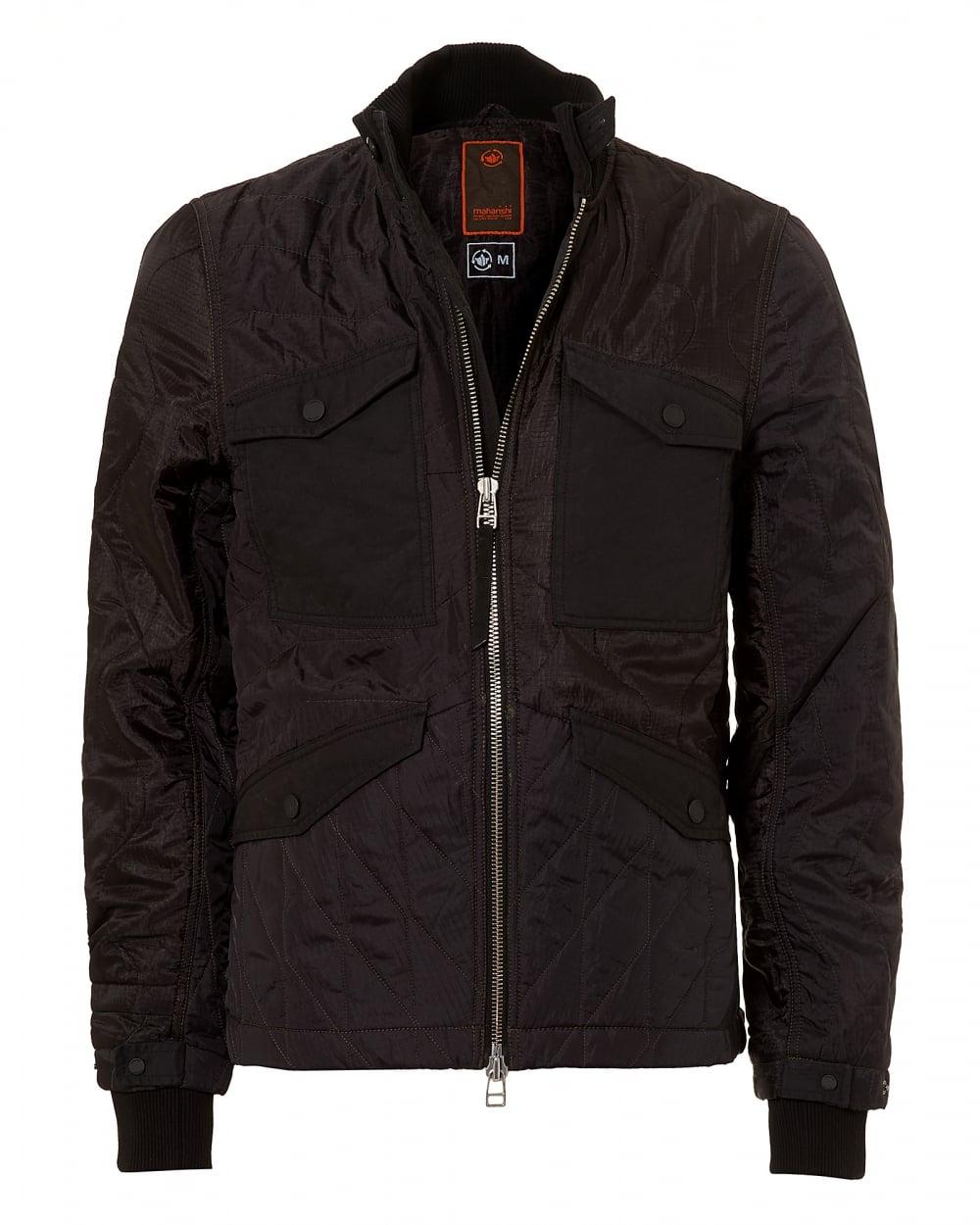 Maharishi mens mixed panels ma liner black jacket mens mixed panels ma liner black jacket gumiabroncs Gallery