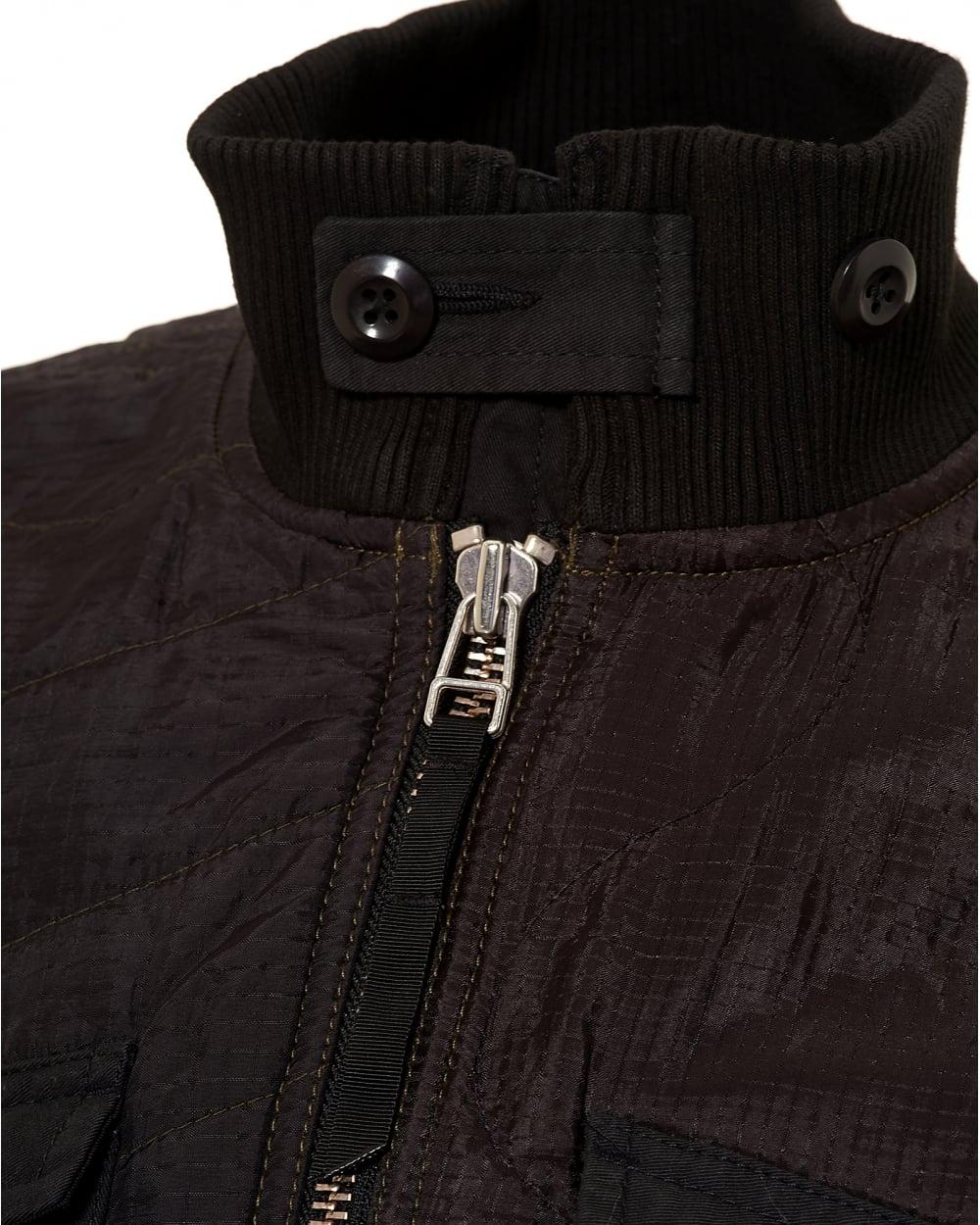 Maharishi mens mixed panels ma liner black jacket mens mixed panels ma liner black jacket gumiabroncs Image collections