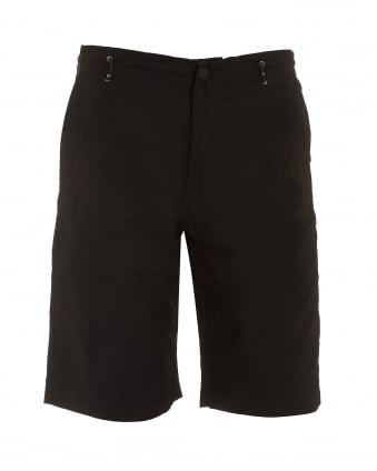 Mens Summer Snow Pocket Black Shorts