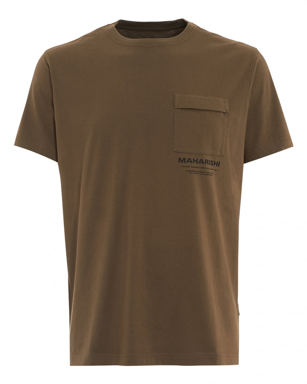 Well-liked Maharishi Mens T-Shirt, Chest Pocket Logo Olive Green Tee NS08