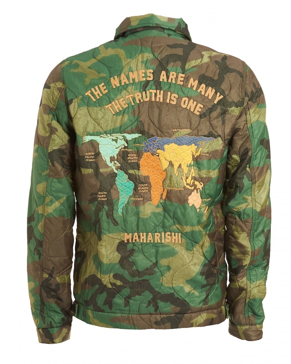 Maharishi mens world map jacket military surplus woodland green coat mens world map jacket vintage military surplus woodland green coat gumiabroncs Choice Image