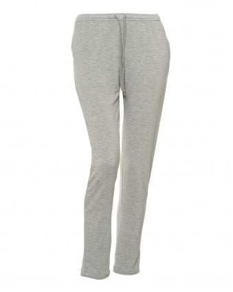 Womens Drawstring Trackpants, Soft Touch Grey Marl Joggers