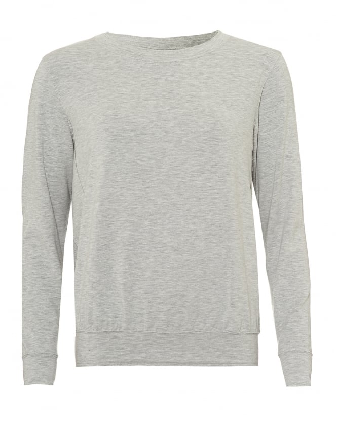 Majestic Filatures Womens Loose Sweat Top, Round Neck Grey Marl Jumper