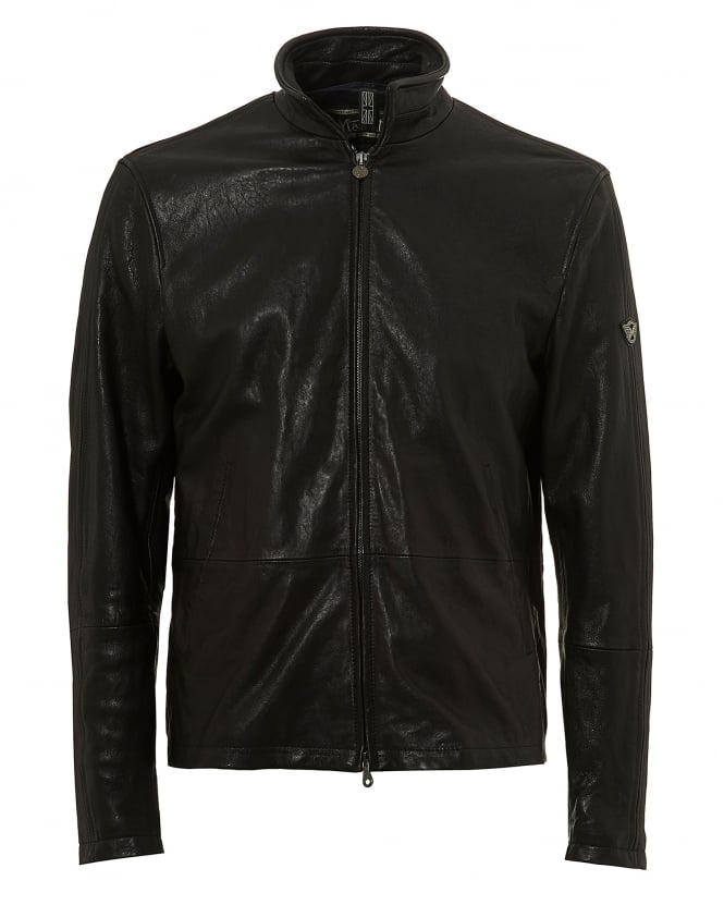 Matchless Mens Craig Blouson C-Nappa Jacket, Black Leather Jacket