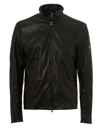 Mens Craig Blouson C-Nappa Jacket, Black Leather Jacket