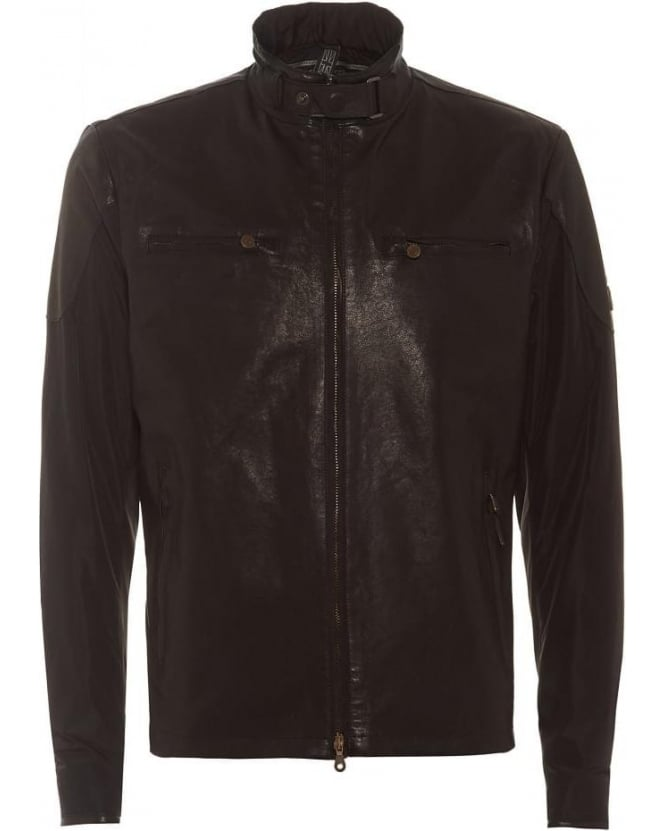 Matchless Mens Jacket Mold Blouson Antique Black Hybrid Leather Jacket