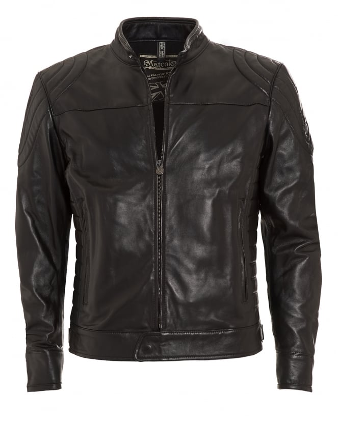 Matchless Mens Model X Reloaded Blouson Black Nappa Leather Biker Jacket