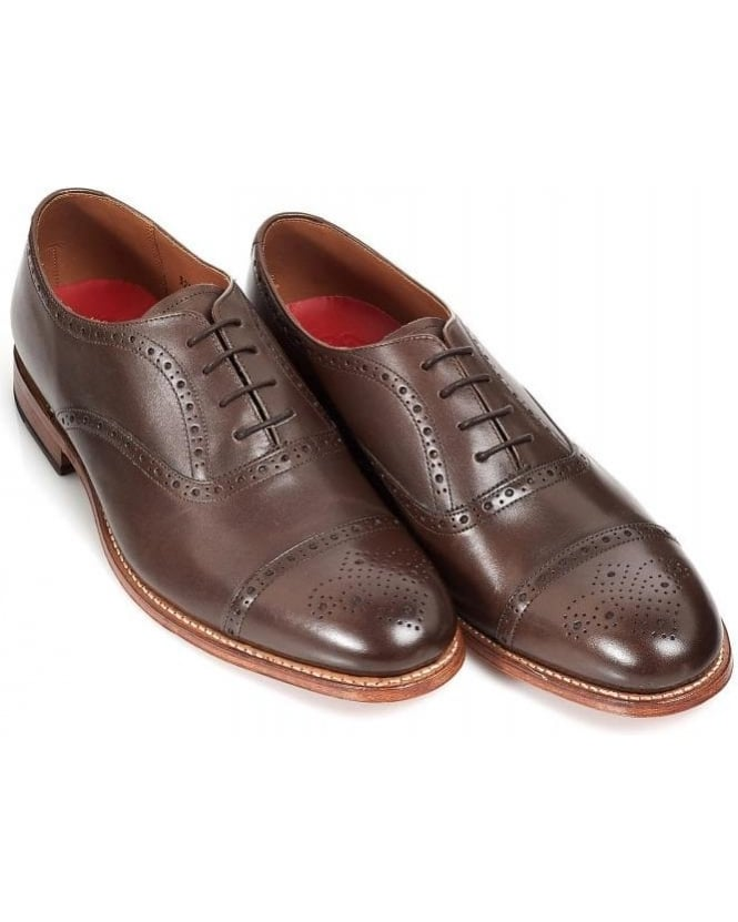 Grenson Shoes 'Matthew' Brown Oxford Semi Brogue