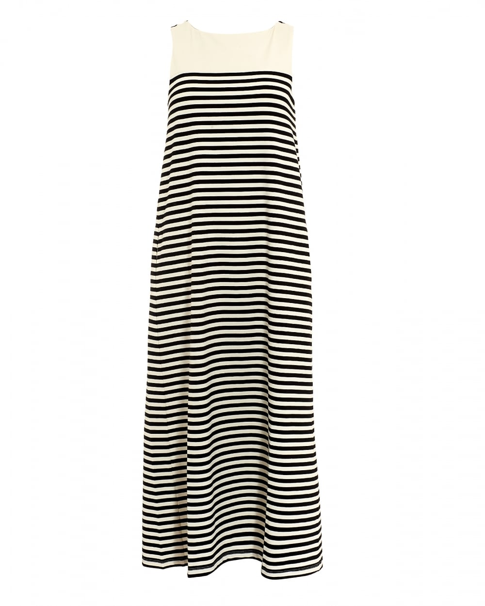 Max Mara Weekend Womens Citrato Black White Stripe Maxi Dress