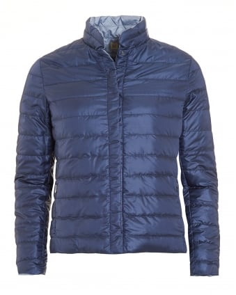 Womens Clair Reversable Blue Quilted Puffa Jacket