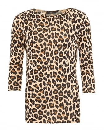 Womens Entrata Top, Animal Print Jumper
