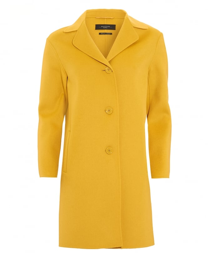 Max Mara Weekend Womens Fiorina Wool-Blend Amber Coat