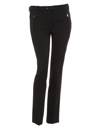 Womens Fontana Black Cigarette Trousers