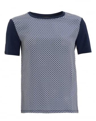 Womens Geranio T-Shirt, Ultra Marine Blue Circle Print Tee