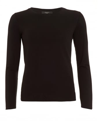 Womens Multi D Top, Black Long Sleeve T-Shirt