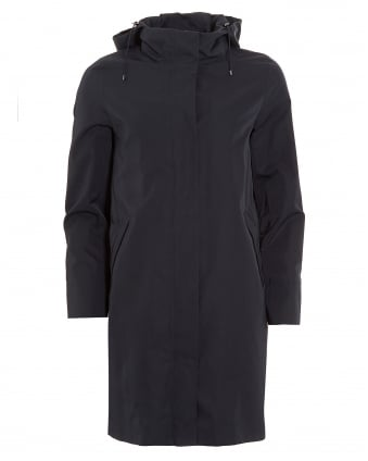Womens Nilly Long Parka Navy Blue Coat