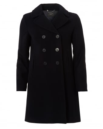 Womens Operoso Pure Wool Ultra Marine Pea Coat