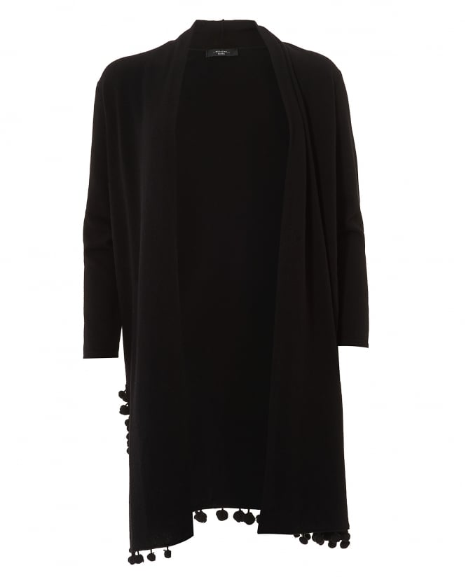 Max Mara Weekend Womens Pacca Black Long Line Cardigan