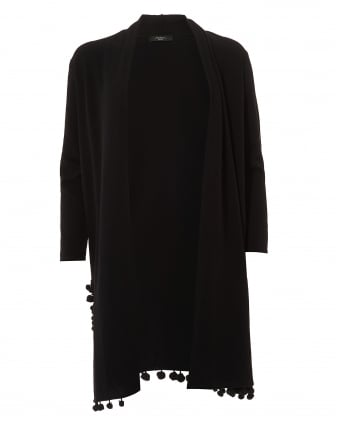 Womens Pacca Black Long Line Cardigan