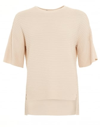 Womens Perla Ivory Ribbed Jumper