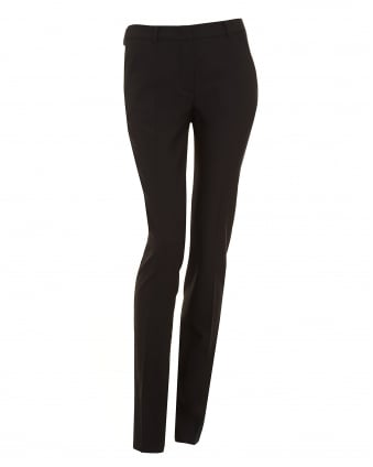Womens Picasso Trousers, Black Slim Fit Turn Up Trouser