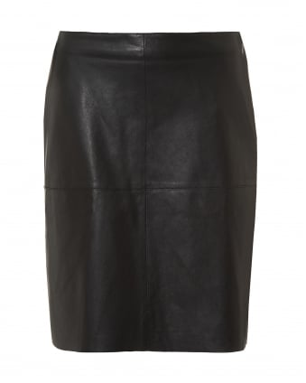 Womens Pio Black A Line Skirt