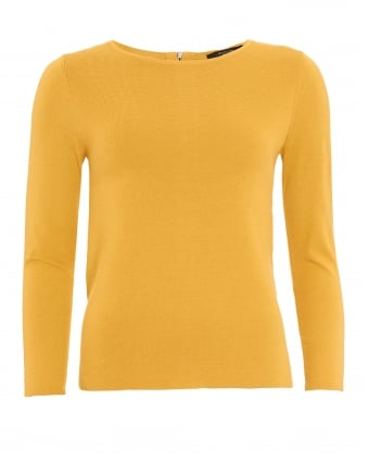 Womens Tacito Jumper, Amber Yellow Sweater