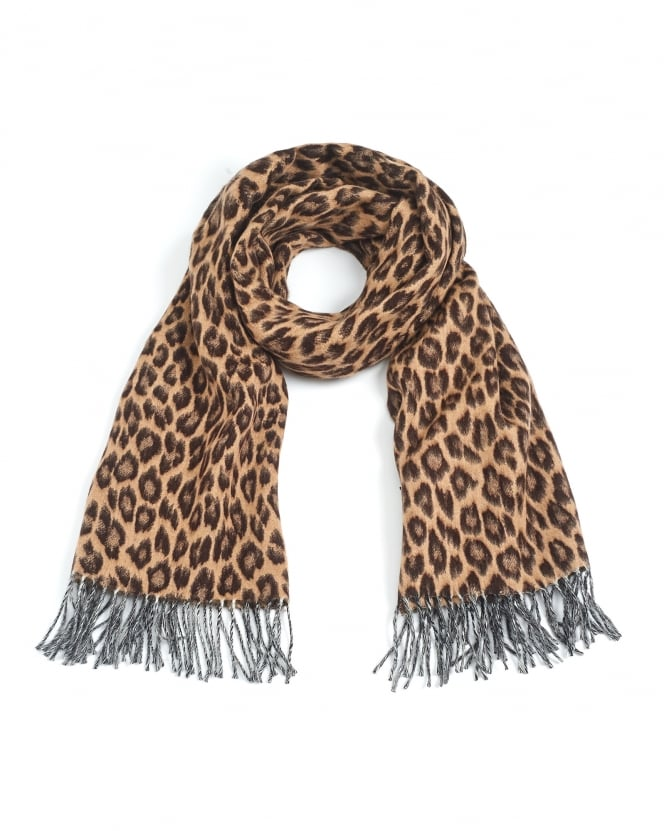 Max Mara Weekend Womens Talete Animal Print Wool Scarf