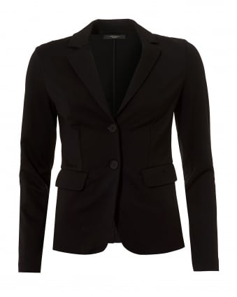 Womens Vaals Jacket, Black Jersey Blazer Jacket