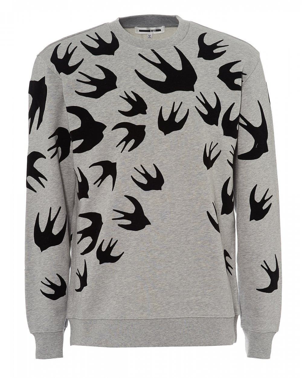 d5572065540 McQ by Alexander McQueen Mens All Over Swallows Grey Sweatshirt