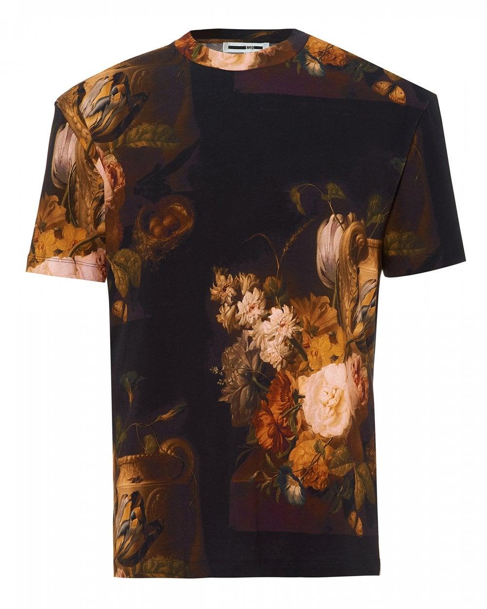 McQ by Alexander McQueen Mens Dutch Masters Floral Multi T-Shirt b869192f1db