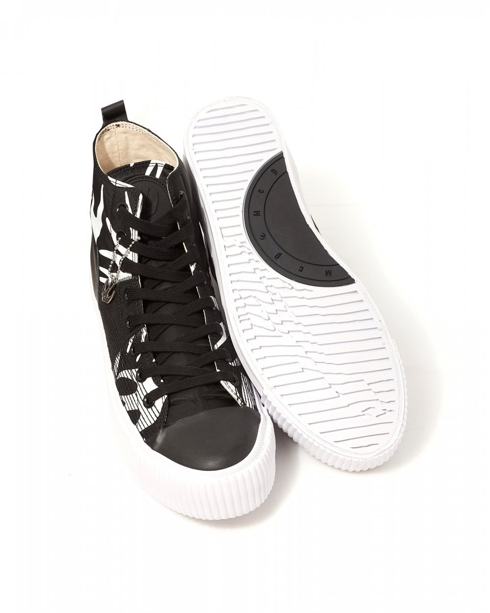 exclusive shoes quality design newest McQ by Alexander McQueen Mens High Top Swallow Plimsoll Shoes
