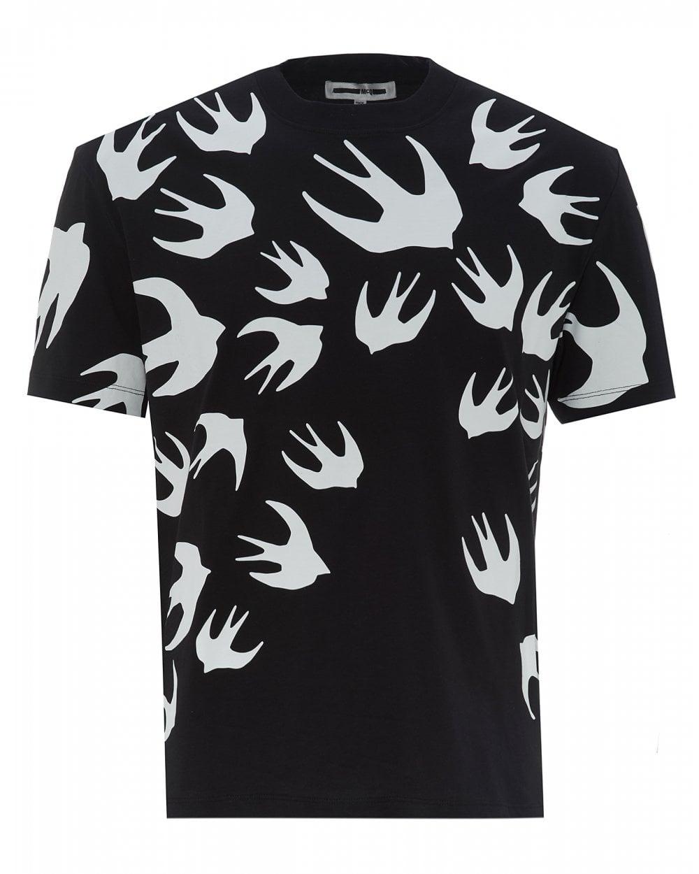 445e34e2386 McQ by Alexander McQueen Mens Large Swallow T-Shirt