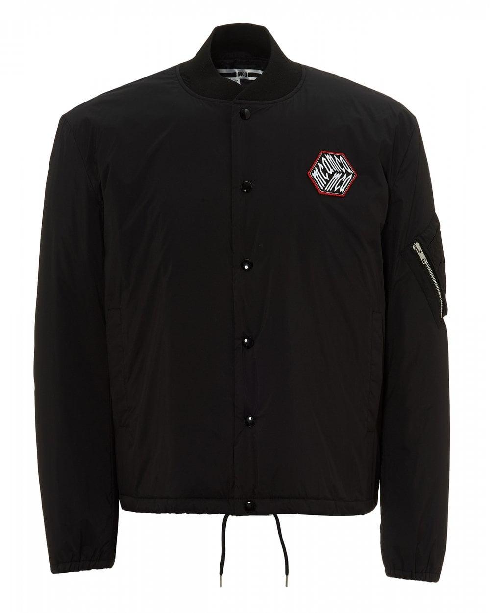 a64de9211 Mens MA1 Bomber Jacket, Arm Zip Darkest Black Jacket