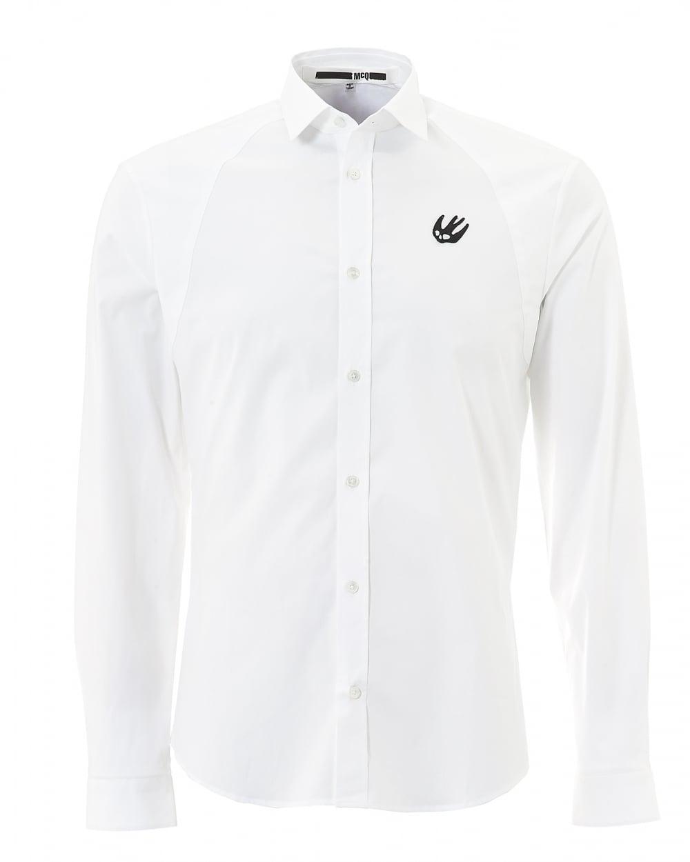 Mcq by alexander mcqueen mens plain white swallow harness for Alexander mcqueen shirt men