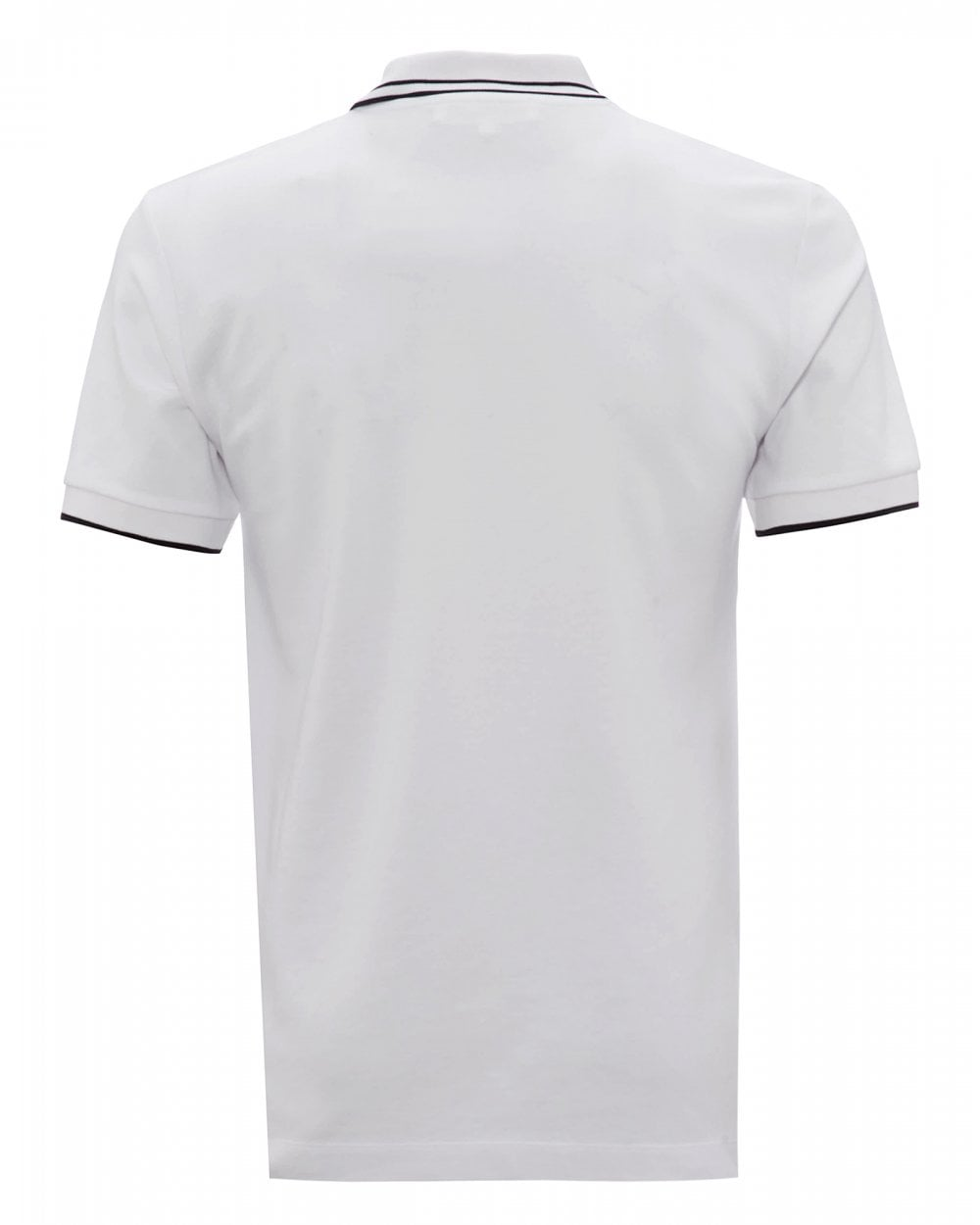 07b2e4a57 McQ by Alexander McQueen Mens Swallow Logo Polo Shirt, White Polo