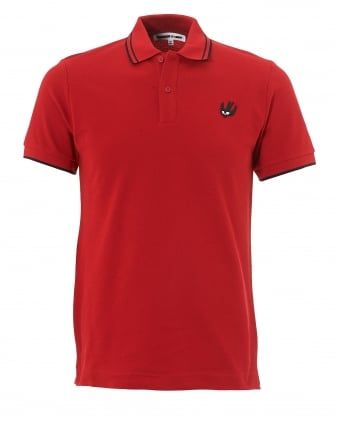 Mens Swallow Polo, Red Tipped Polo Shirt